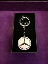 Genuine Mercedes-Benz Star Logo with Swarovski Crystals Key Chain