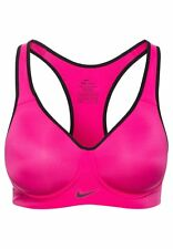 NIKE PRO RIVAL HIGH SUPPORT DRI FIT SPORT BRA  SIZE 30C HOT PINK RACER BACK