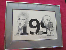 ORIGINAL SIGNED CARICATURE DRAWING OF PHILIP K. DICK - PERSONALLY OWNED BY DICK