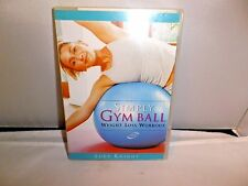 Simply Gym Ball~Weight Loss Workout w/THE WIN MEAL PLAN BOOKLET Lucy Knight B-36