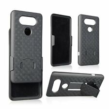 LG V20 Rugged Slide Holster Bell Clip Case Cover w/ Kickstand JR