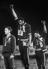 1968 Mexico Olympics Black Power Salute B & W Poster 18x24