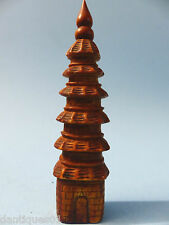 VERY OLD CHINESE NOVELTY SNUFF BOTTLE IN THE FORM OF A TEMPLE - VERY RARE - L@@K