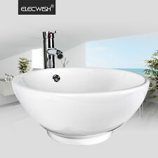 Bathroom Vessel Sink Drain Ceramic Faucet Basin Vanity Porcelain Bowl Combo Up