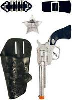 Single Cowboy Gun Holster Set Fancy Dress Toy Ranger Bandit Sheriff Wild West