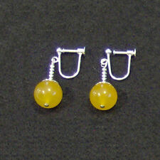 Clip On - Yellow Jade Potara Fusion Earrings Dragon Ball Z DragonballZ Earings