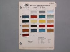 1977 BUICK PAINT CHIPS R-M Rinshed-Mason Color Chart Century Regal Skylark