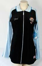 Fubu Harlem Globetrotters Goose Velour Long Zip Front Top Womans Medium M NWT