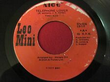 RARE 70'S SOUL 45 - LEO MINI - TELEPHONE LOVER/ THINK ABOUT IT (1997)NICE LS-111