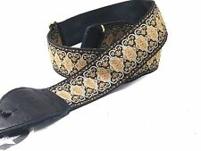 Souldier Guitar Strap (soldier) - Persian Gold Black - Handmade - Fabric