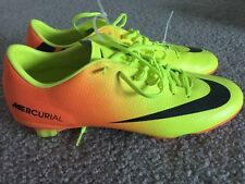 NEW MENS NIKE MERCURIAL SOCCER SHOES BOOTS CLEATS ORANGE NEON YELLOW SIZE SZ 11