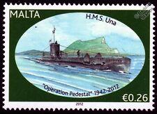 HMS UNA (N87) U-Class Submarine Warship WWII Malta Convoys Stamp