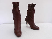 NICE Womens 6.5 COLE HAAN Nike Air Brown Gathered Top Pull On High Heel Boots