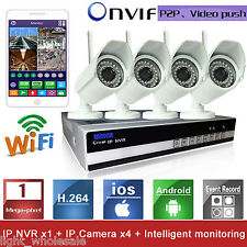4CH 720P Network Video Recorder Wireless IR Security HD Camera NVR wifi System