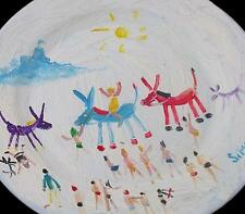 Simeon Stafford Original Painting On A Plate - Donkey Rides / St Michael's Mount