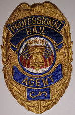 PATCH - PROFESSIONAL BAIL AGENT  Sheild style - Cotton blend SALE PRICE
