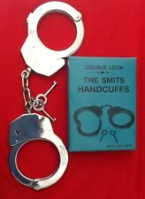 REAL HEAVY DUTY DOUBLE LOCK POLICE SMITS HANDCUFFS HANDCUFF STAG DO MILITAR