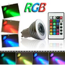 FARETTO LED gu10 4W RGB MULTICOLORE con TELECOMANDO  LAMPADA GU10 - nuovo