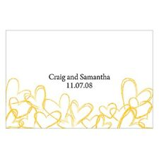24pk Personalized Contemporary Hearts Large Rectangular Tags Wedding Favors