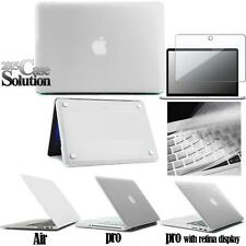 De Goma Estuche Rígido Funda + Protector De Pantalla + Uk Funda De Teclado Para Apple Macbook