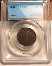 {BJSTAMPS} Canada 1858 One Cent EF  CCCS GRADED