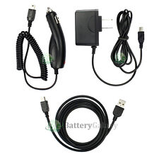 USB Cable+Car+Wall Charger for Garmin Nuvi 250 255 255W 750 760 1350 1390T 1490T
