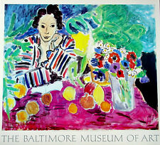 Henri Matisse≈Striped Blouse and Anemones≈Baltimore Museum Art POSTER 29x32