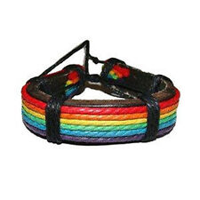 Pride Shack - Rainbow Leather Wristlet - Gay and Lesbian LGBT Pride Bracelet
