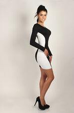NEW Classic Optical Slimming Women's Dress Bodycon Crew Neck Sizes 8-18 8921
