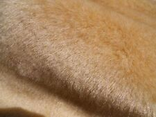 "Light Golden Beige Faux Fur Teddy Bear Making 1/2 "" Pile 1 Yard (36""x60"")"