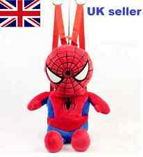 Spiderman Kids Backpack rucksack Boys children short plush School Bag UK seller
