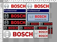 1 SET. BOSCH INVENT FOR LIFE RACING TOOL DECALS STICKER COLOR PRINTED DIE-CUT