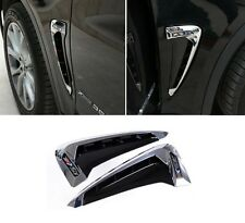 Side Body Marker Fender Air Wing Vent Trim M Cover Chrome 2 for BMW X5 2014-2016