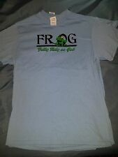 F.R.O.G. (Fully Rely On God) Men's Christian Blue Medium T-shirt  [New]