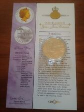 2003 Gold Silver Proof 1oz $5 Five Dollar Coin. Queens Jubilee Royal Visit