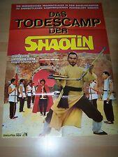 DAS TODESCAMP DER SHAOLIN - original Kinoplakat A1 ´80 - EASTERN Kung Fu