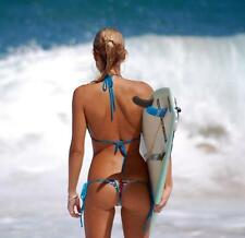 Surfer girl  great picture from behind in thong bikini  8x10 photo 3