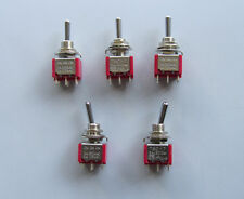 5x DPDT 6 Pin 3 Way ON/ON/ON Guitar Mini Toggle Switch SALECOM Car/Boat Switches