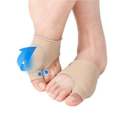 1Pair Fabric Gel Toe Bunion Pad Protector Sleeves Hallux Valgus Corrector
