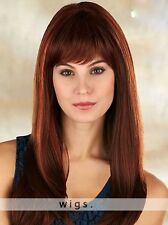 Fashion Elegant Long Straight Wig Women's Red Brown Natural Charming Full Wig
