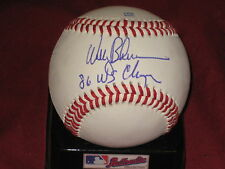 METS GREAT & NEXT MANAGER WALLY BACKMAN INSCR AUTO BALL 1986 WORLD CHAMPS W/COA