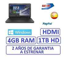 "Ordenador portatil HP 15"" GAMA 2017  1Tb, HDMI ATI RADEON R2 1696MB WINDOWS"