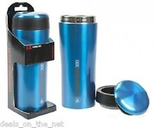 Summit Insulated Thermal Travel Coffee Mug Stainless Steel Leakproof Blue 300ML.