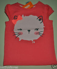 Gymboree toddler girl size 2 2T NWT pink kitty cat tee shirt top