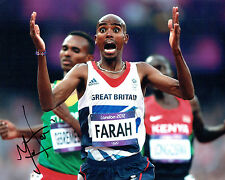 Mo FARAH Autograph 10x8 Signed Photo AFTAL COA London Olympics 2012