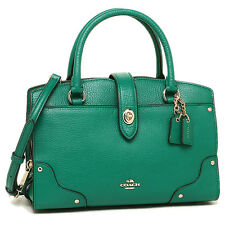 NWT Coach  LIFOR Green Mercer Satchel 24 in Grain Leather 37779 - New$295
