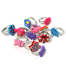 12 x YUMMY PARTY BAG Fillers KIDS RINGS Gifts girls rings favours 12R