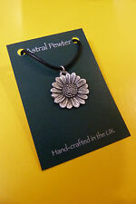 PENDANT ASTRAL PEWTER SUNFLOWER FLOWER  NECKLACE HAND CRAFTED UK FINISH NEW