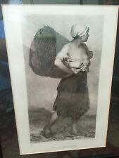 """The Chicken Woman of Dieppe"" by Antoine Vollon Framed Art Print, Ex! Beautiful!"