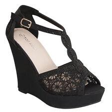 NEW Peep Toe Floral Lace  High Heel Bridal & Party Platform Stiletto Pump Shoe
